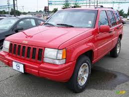 pink jeep interior 1996 flame red jeep grand cherokee limited 4x4 16903337