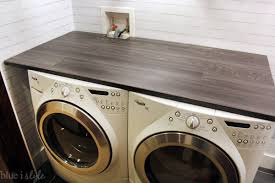 Countertop Clothes Dryer Diy With Style Diy Wood Plank Laundry Room Countertop Blue I Style