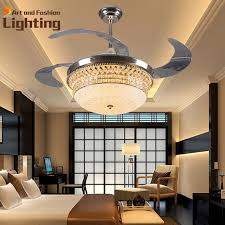 acrylic ceiling fan blades luxury k9 crystal ceiling fan lights 4 invisible acrylic blades top