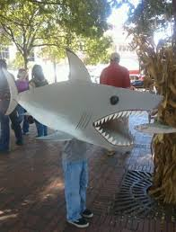 Shark Costume Halloween Cardboard Box Costume Infinite Possibilities Honest