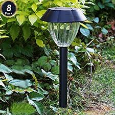 amazon com voona solar led outdoor lights 8 pack stainless steel