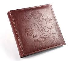 high capacity photo album high capacity pu leather embossing flower cover holds 200 pieces