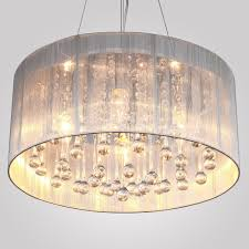 lightinthebox modern silver crystal pendant light in cylinder