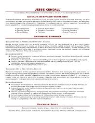 Sample Resume Objectives For Bookkeeper by Sample Resume Bookkeeping Clerk Augustais