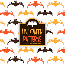 illustrated halloween bat pattern vector download