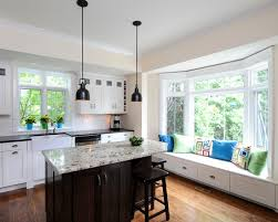 Window With Seat - ideas for bay window in kitchen charming cottage kitchen makeover