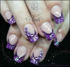 luminous nails purple snake skin effect nails nail art