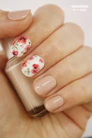 hand painted floral nails watercolor looking sunshine citizen