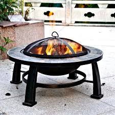 slate fire pit table dover 30 round slate fire pit table walmart com