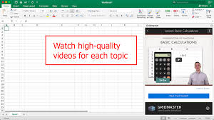 Learning Spreadsheets Online Free Gridmaster Learn Excel By Using Excel U2013 Microsoft Appsource