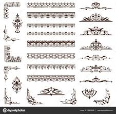 Art Deco Design Art Deco Design Elements Of Vintage Ornaments And Borders Corners