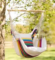 rainbow striped cotton hammock chair swing swings u0026 hammocks