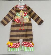 thanksgiving baby rompers 2017 newborn baby clothes turkey