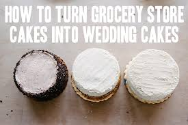 wedding cake diy how to a trio of grocery store wedding cakes a practical