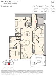 floor plans of paramount miami world center condo miami