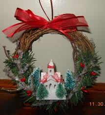 christmas wreath grapevine wreath christmas ornament
