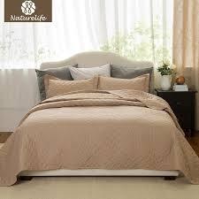 naturelife camel color quilt set bedspread bed cover quilted bedding