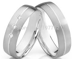 titanium wedding ring sets for him and aliexpress buy luxury tailor made white gold color color