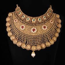 chokers necklace gold images Maharaksha pearl drop gold choker necklace jpg