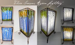 buy a handmade three seasons fused glass table lamp made to order