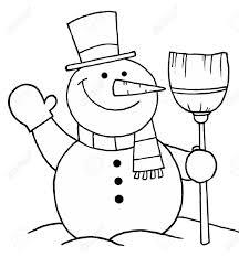 snowman outline clipart