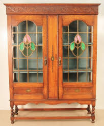 antique oak bookcase with glass doors best shower collection