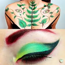 halloween body paint poison ivy costume makeup u0026 body paint youtube