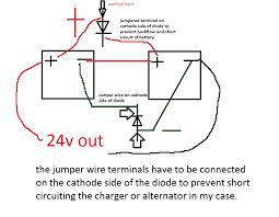 charging 24v battery with 12v alternator and isolator motor
