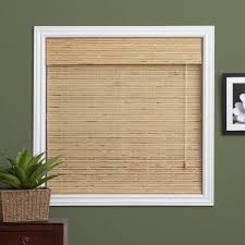 Intercrown Blinds Arlo Blinds Petite Rustique Bamboo Roman Shade With 74 Inch Height