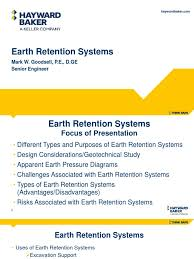 earth retention deep foundation geotechnical engineering