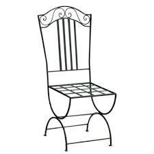 chaises en fer forg chaise de jardin en fer forgé stylisée aux formes épurées