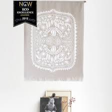 linen wall hanging featuring original polish folk art design