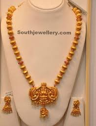 long chain necklace designs images Lakshmi temple long chain jewellery designs jpg