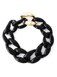 black link necklace images Lyst moschino chunky chain necklace in black jpeg