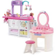 Little Girls Play Vanity Pamper And Care Combo Pretend Play Toys Step2