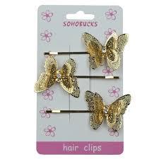 butterfly hair clip gold butterfly hair clip with rhinestone sohobucks