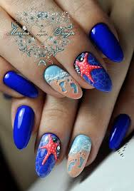 these super cute nautical nail designs are the perfect summer nail