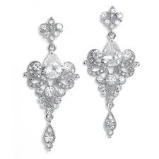 earrings for prom silver deco cubic zirconia earrings promsugar