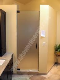 pictures of shower doors with diferent types of textured glass