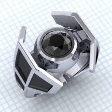 nerdy wedding rings buy a made tie the knot tie fighter engagement ring with