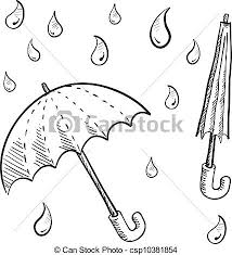 umbrella clipart line drawing pencil and in color umbrella