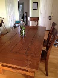 Kitchen Table Building Plans by Dad Built This How To Build A Farmhouse Table