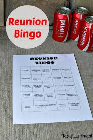 high school reunion favors reunion bingo free printable