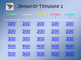jeopardy game template this template was created because most