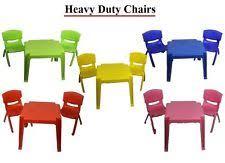 table and chairs plastic plastic table and chairs ebay