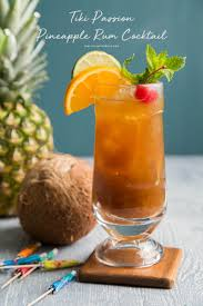 pineapple tiki passion pineapple rum cocktail the little epicurean