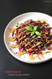 comment cuisiner le quinoa recettes recette i la salade de quinoa noir sauce orange cacahuète