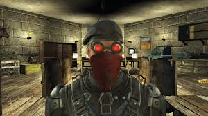 ghost glow mask red weld goggles and with black mask and glow now at fallout 4