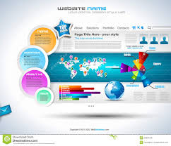 complex website template elegant design royalty free stock