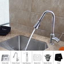 kitchen faucets with soap dispenser stainless steel kitchen sink combination kraususa com